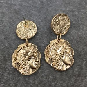 Coin Double Vintage Style Earrings